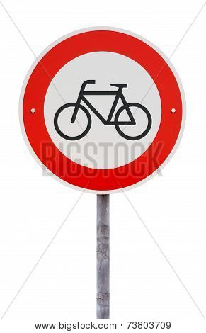 No Entry For Bicycles Traffic Sign