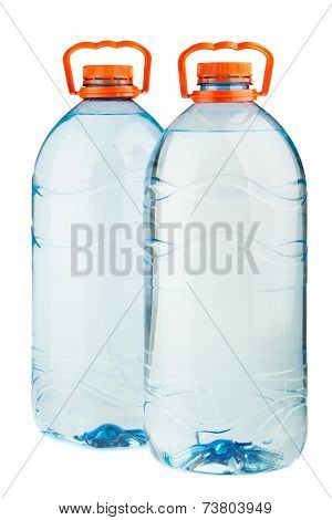 Two Big Plastic Water Bottles