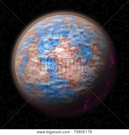 Abstract Planet Generated Texture Background