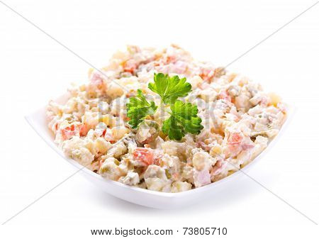 Bowl Of Traditional Russian Salad