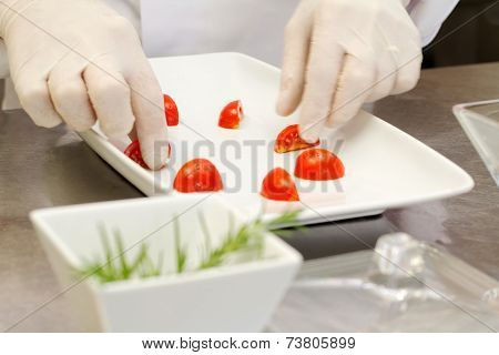 Food Composition With Chef Hands