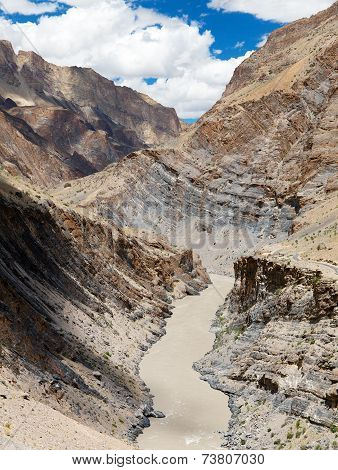 Zanskar River And Zanskar Valley