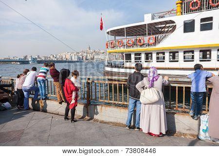 Ships At Eminonu