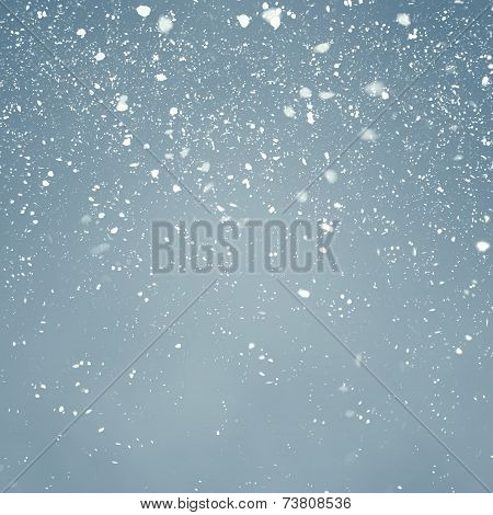Snowfall with Blue Background