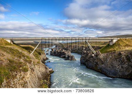 Bridge At Godafoss In Iceland