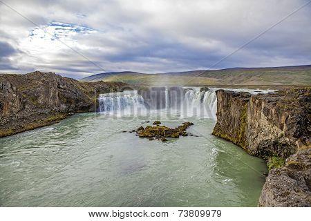 Waterfall Landscape In Iceland3