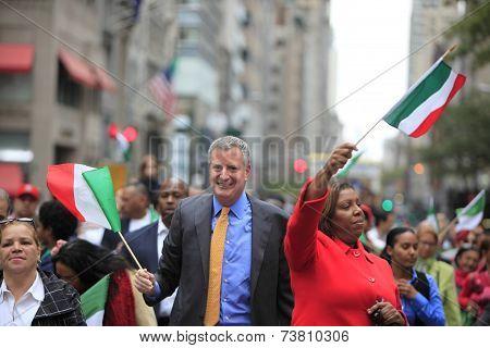 Mayor Bill De Blasio & Leticia James