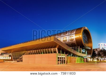 Baku - MAY 30, 2014: Carpet Museum on May 30 in Baku, Azerbaijan. Carpet Museum is one of the newest Baku landmarks