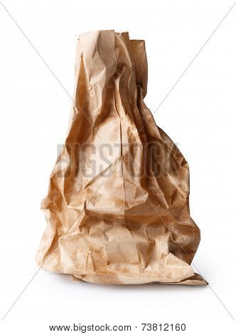 Crumpled Paper Bag With Grease Spots