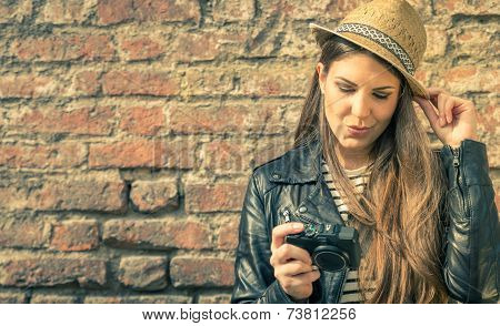 Pretty Model With Her Camera