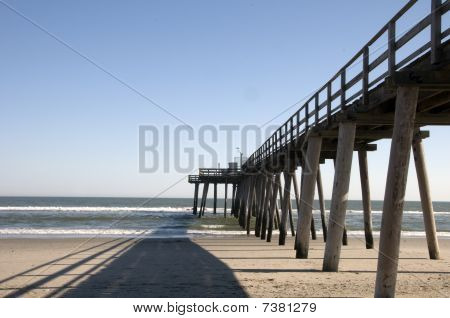 Side View Of Fishing Pier