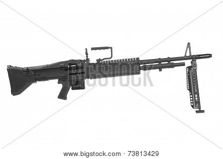 M60 Machine Gun Isolated