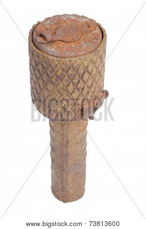 Red Army Ww2 Hand Grenade Isolated On A White Background