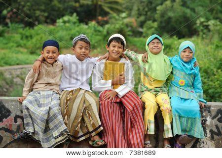 Group of Muslim Kids