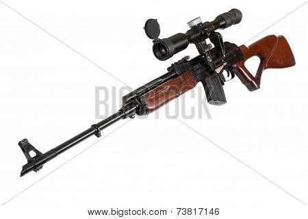 Sniper Rifle With Optic Sight
