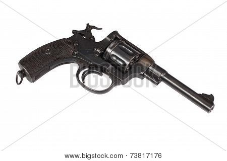 Revolver Gun Isolated On A White Background