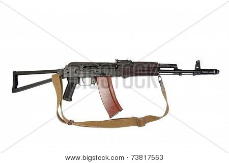Aks-74 Para Isolated On A White Background