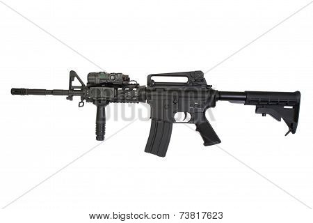 ua army rifle Isolated On A White Background