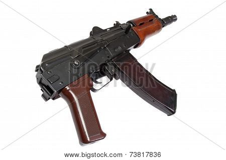Spetsnaz Rifle AK 47 Isolated On A White Background