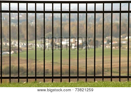 Rod Iron Fence With View