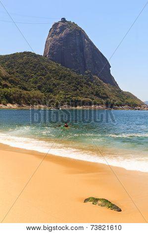 Mountain Sugarloaf Red Beach (praia Vermelha), Rio De Janeiro, Brazil