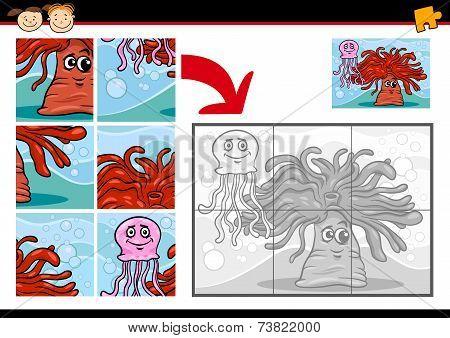 Cartoon Sea Life Jigsaw Puzzle Game