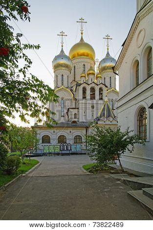 Cathedral Of Nativity Of Mary In Conception Convent In Moscow View From Convent Territory