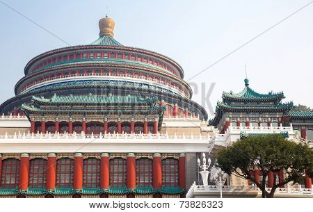 Chongqing Great Hall of People in China