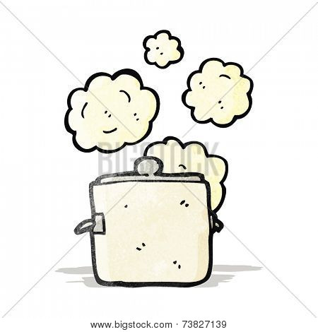 hot kitchen pot cartoon