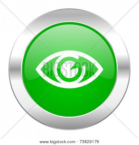 eye green circle chrome web icon isolated
