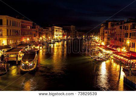 Grand Canal From Rialto Bridge - Venice, Italy
