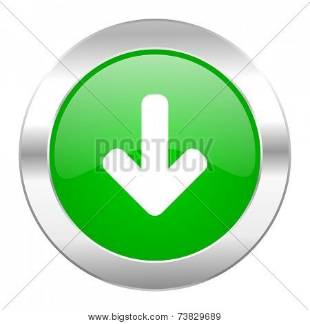 download arrow green circle chrome web icon isolated