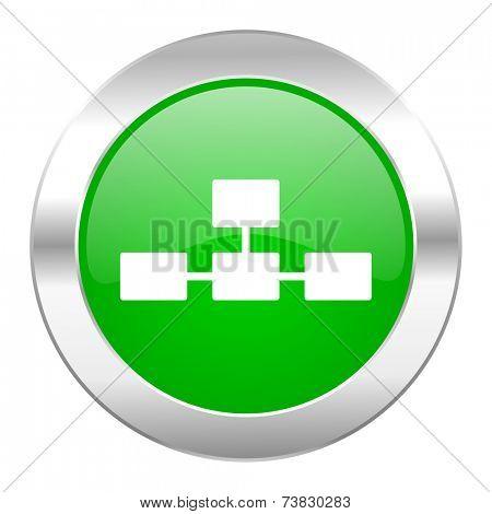database green circle chrome web icon isolated