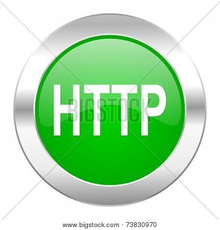 http green circle chrome web icon isolated