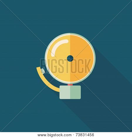 Alarm Bell Flat Icon With Long Shadow,eps10