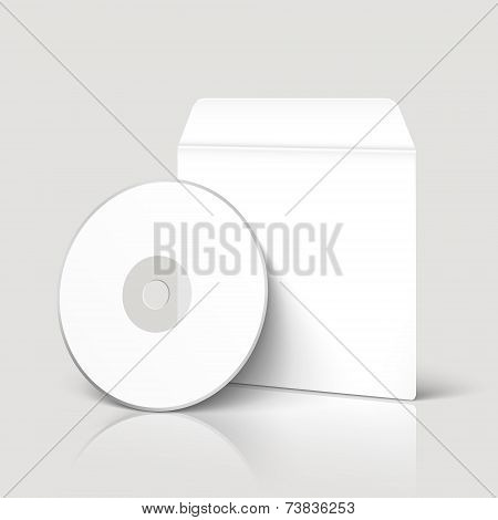 Blank Dvd And Envelope