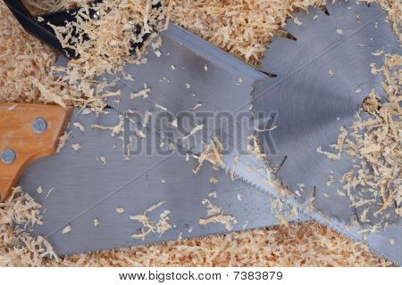 Wood Shavings And Saw Blades