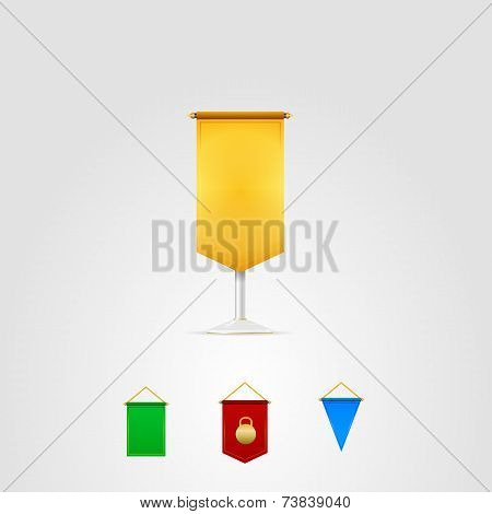 Vector illustration of colored pennants