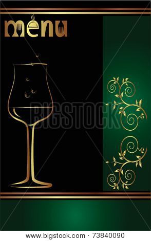 Menu Card Design Template Wine