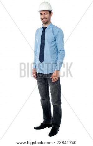 Construction Engineer Posing Casually