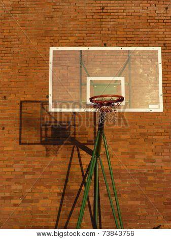 Basketball Backboard And Hoop