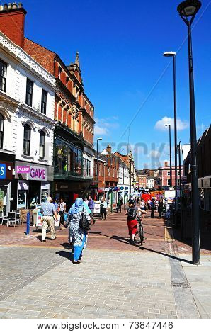 City centre shopping street, Derby.