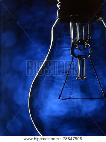 Bulb On Blue
