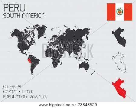 Set Of Infographic Elements For The Country Of Peru