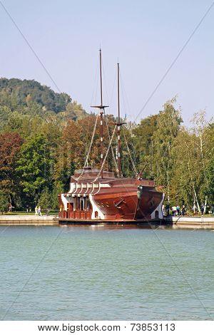 Galleon Ship-restaurant In Mezhyhirya - Former Residence ex-president Yanukovich