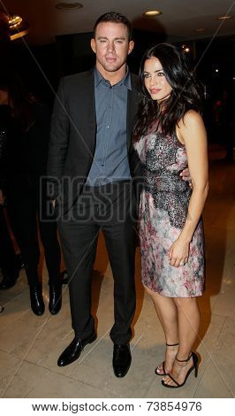 NEW YORK-OCT 10: Actor Channing Tatum (L) and wife Jenna Dewan Tatum attend the