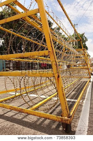 Razor Wire Iron Barrier