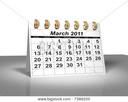 Desktop Calendar. March, 2011