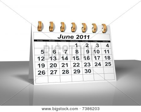 Desktop Calendar. June, 2011