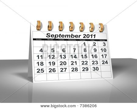 Desktop Calendar. September, 2011
